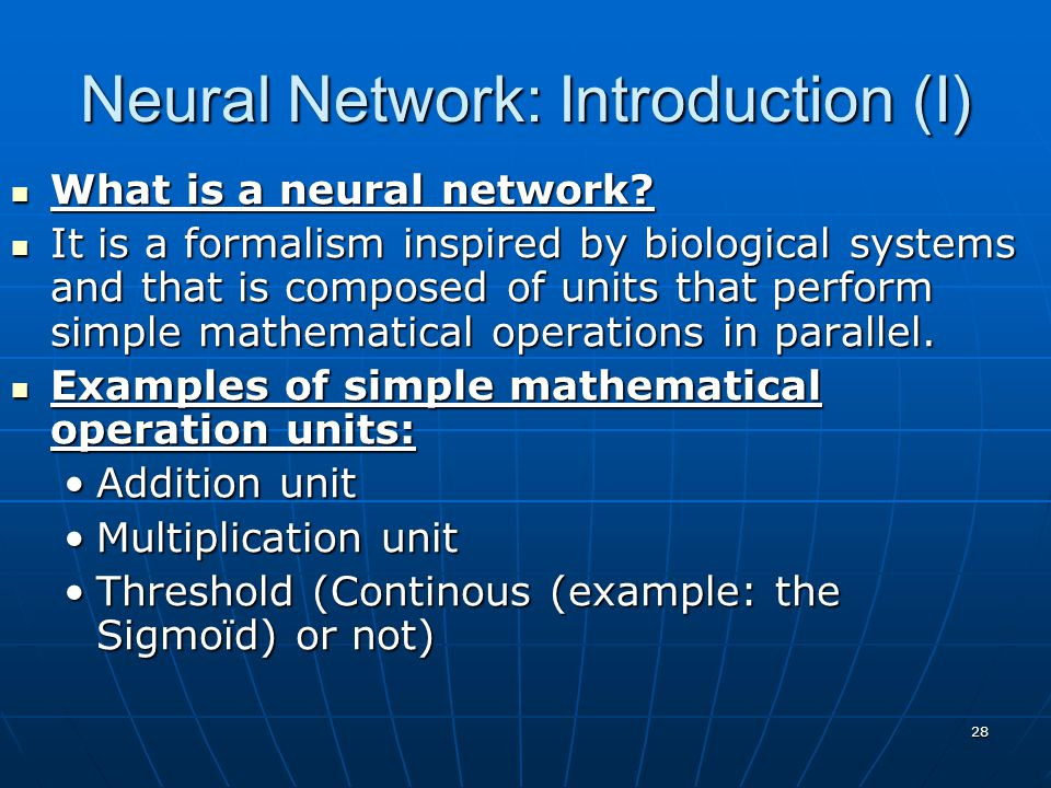 Neural Network: Introduction (I)