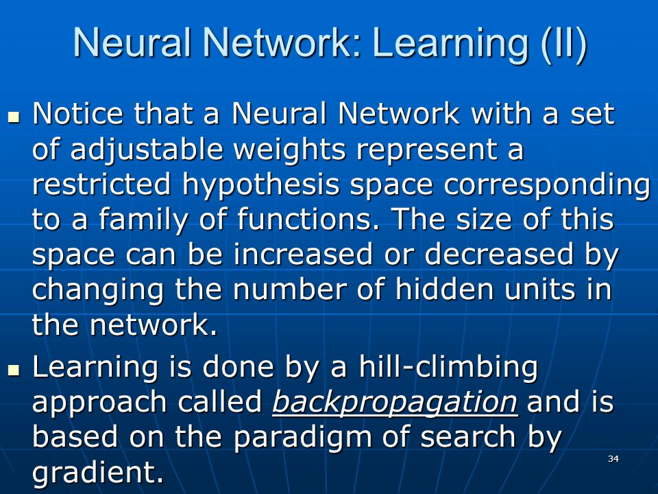 Neural Network: Learning (II)