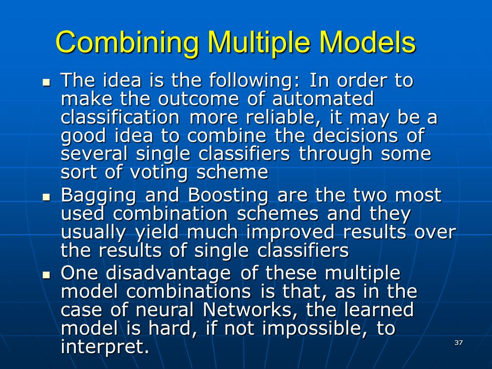 Combining Multiple Models