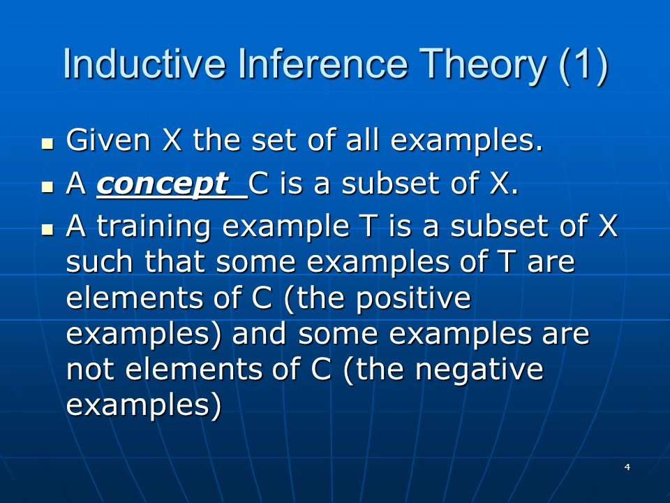 Inductive Inference Theory (1)