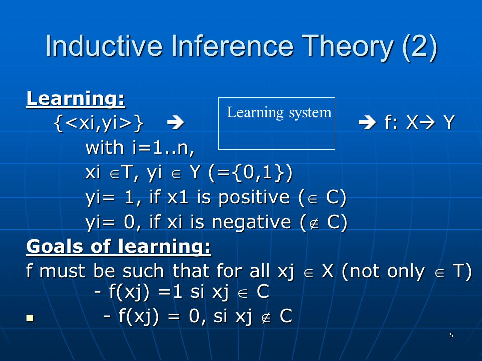 Inductive Inference Theory (2)