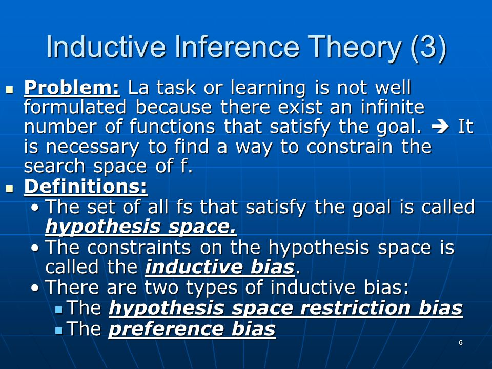 Inductive Inference Theory (3)