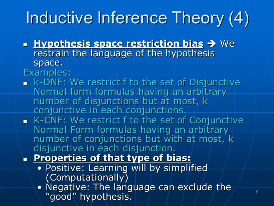 Inductive Inference Theory (4)