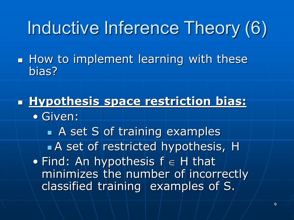 Inductive Inference Theory (6)