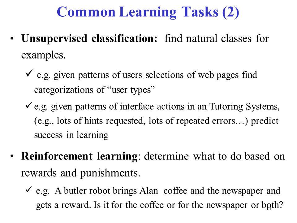 Common Learning Tasks (2)