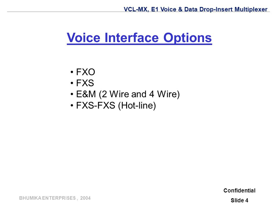 Voice Interface Options