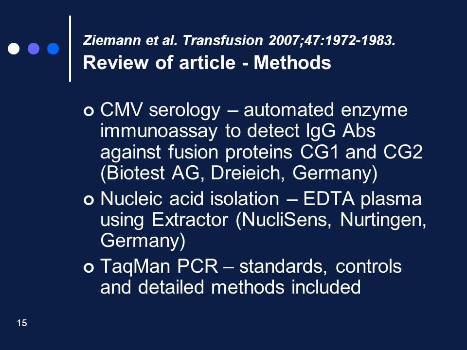 TaqMan PCR – standards, controls and detailed methods included