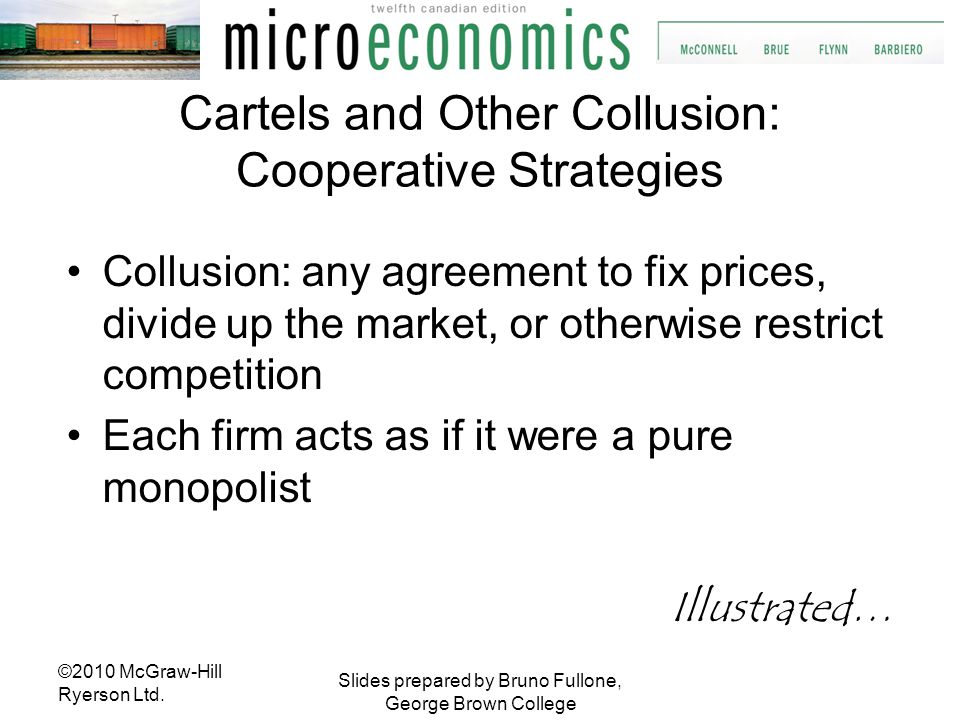 Cartels and Other Collusion: Cooperative Strategies