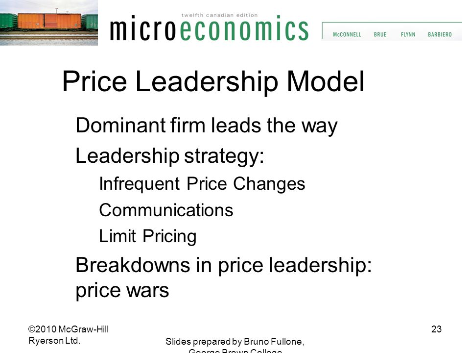 Price Leadership Model