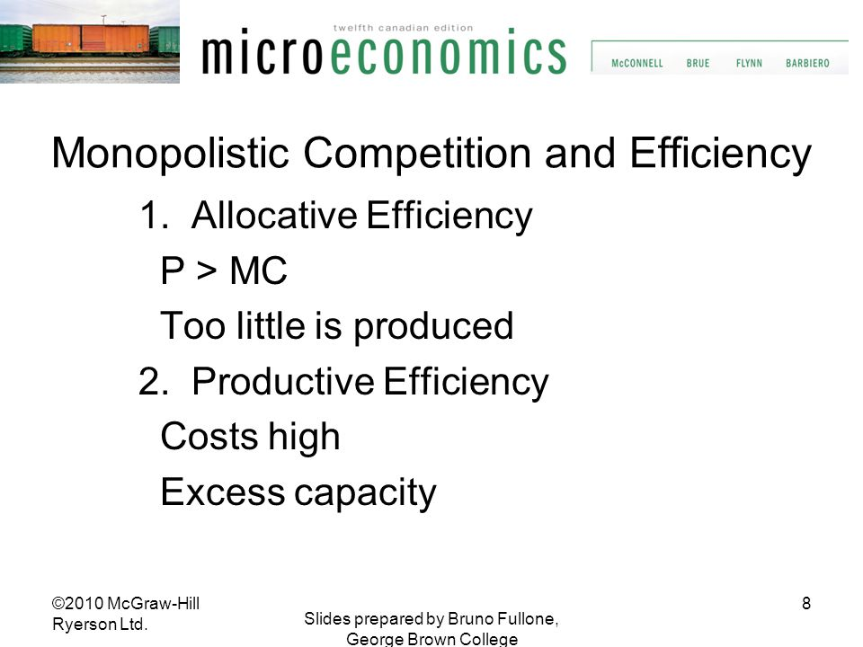Monopolistic Competition and Efficiency
