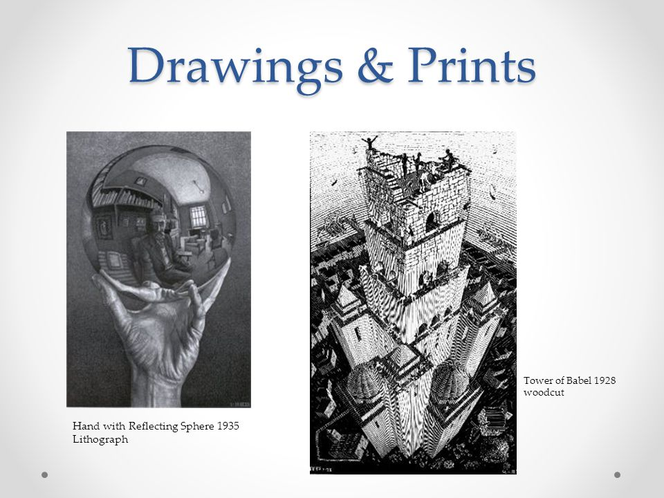 Drawings & Prints Hand with Reflecting Sphere 1935 Lithograph