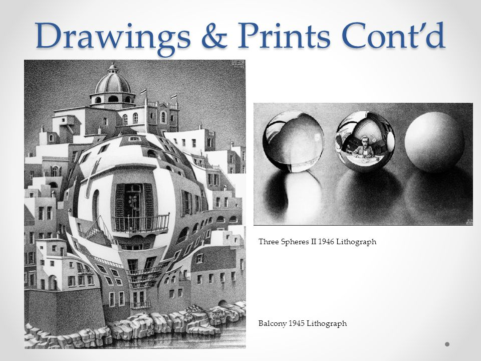 Drawings & Prints Cont'd