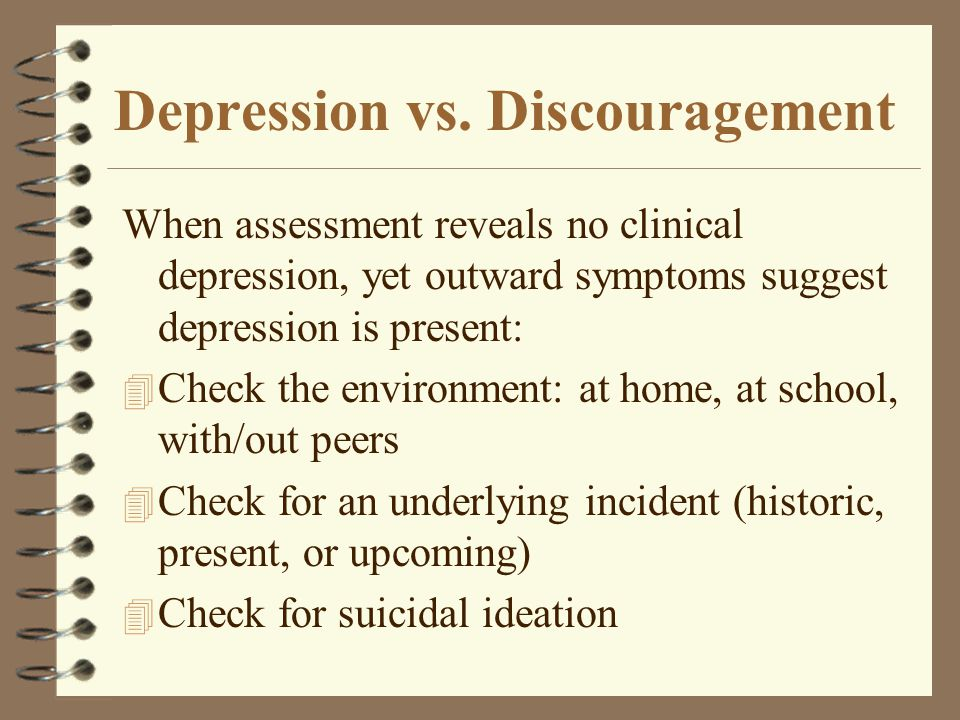Depression vs. Discouragement