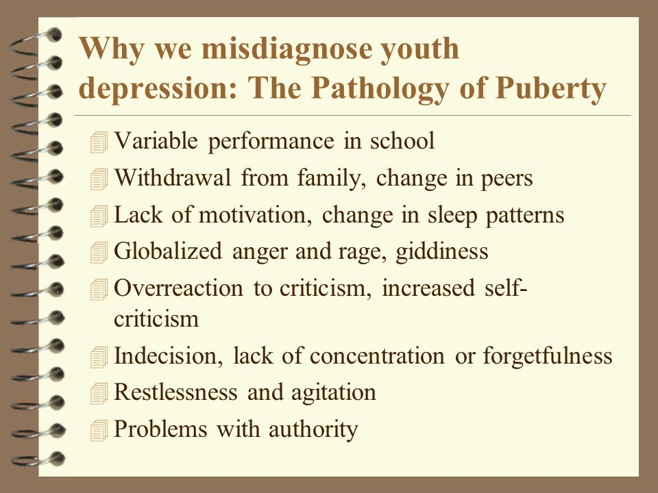 Why we misdiagnose youth depression: The Pathology of Puberty
