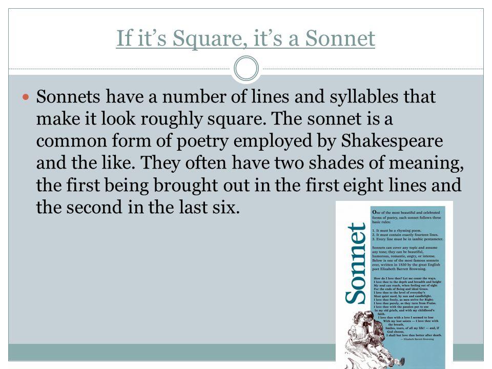 If it's Square, it's a Sonnet