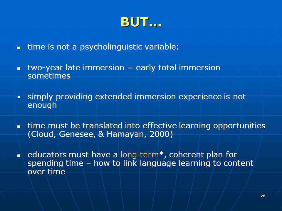 BUT… time is not a psycholinguistic variable: