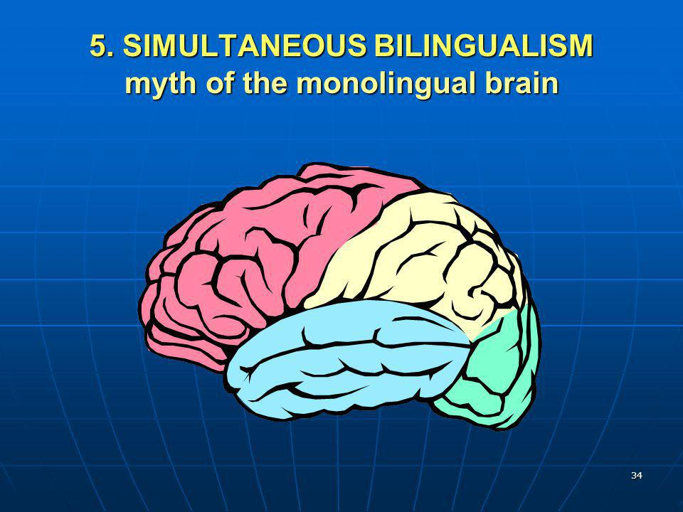 5. SIMULTANEOUS BILINGUALISM myth of the monolingual brain