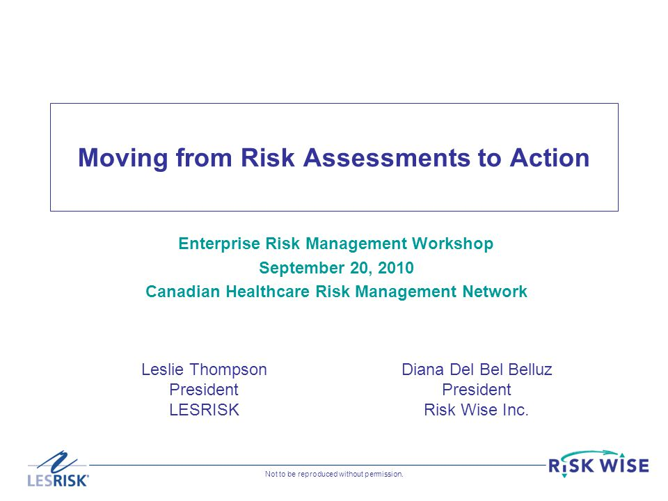 Moving from Risk Assessments to Action