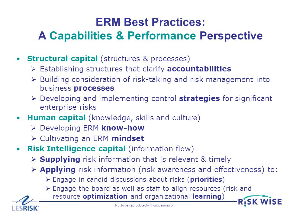 ERM Best Practices: A Capabilities & Performance Perspective