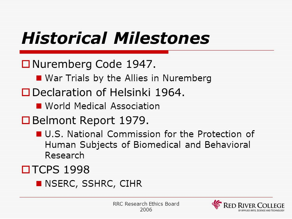 Historical Milestones
