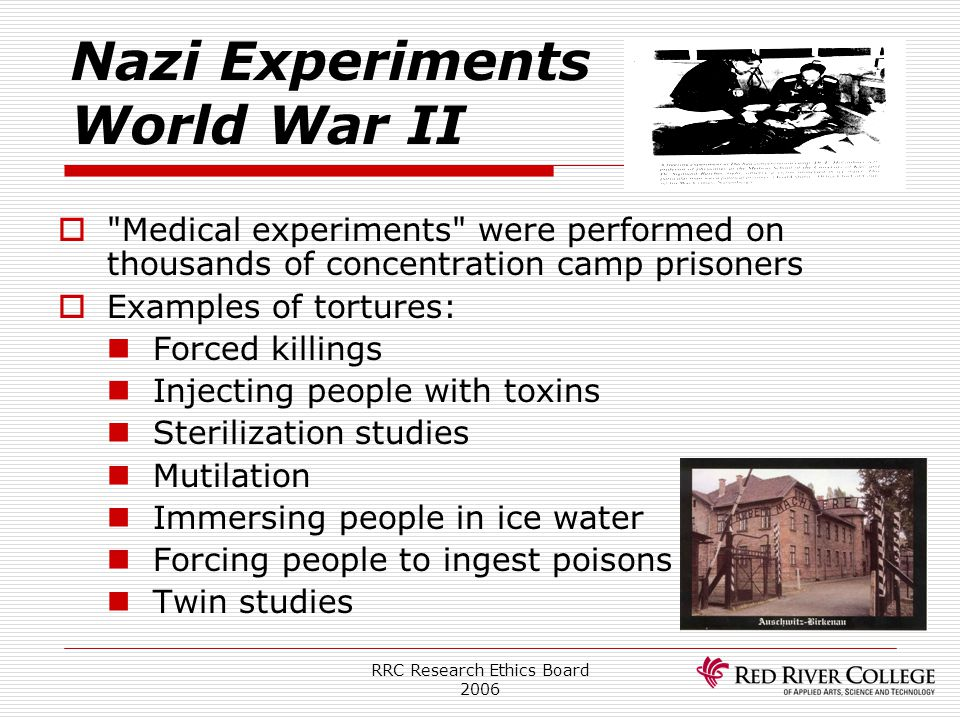 Nazi Experiments World War II