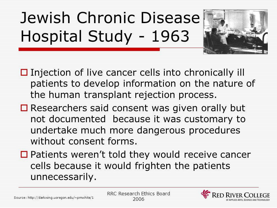 Jewish Chronic Disease Hospital Study - 1963