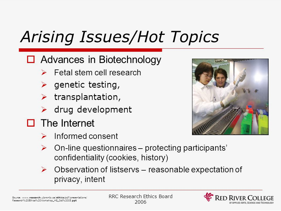 Arising Issues/Hot Topics