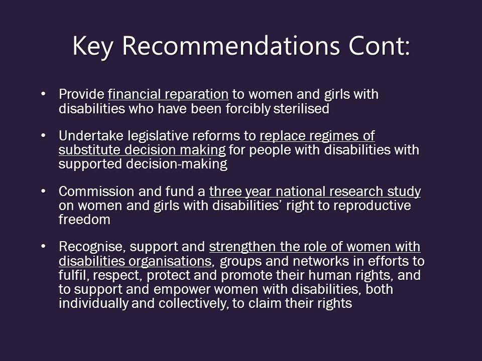 Key Recommendations Cont:
