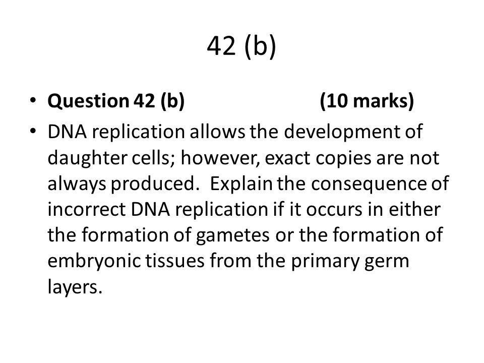 42 (b) Question 42 (b) (10 marks)
