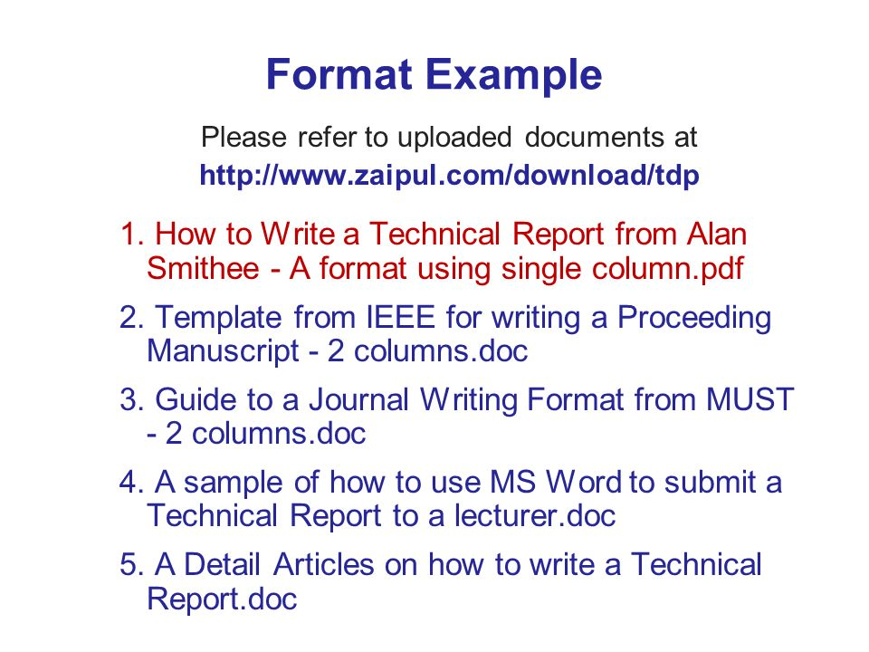 How to write test report