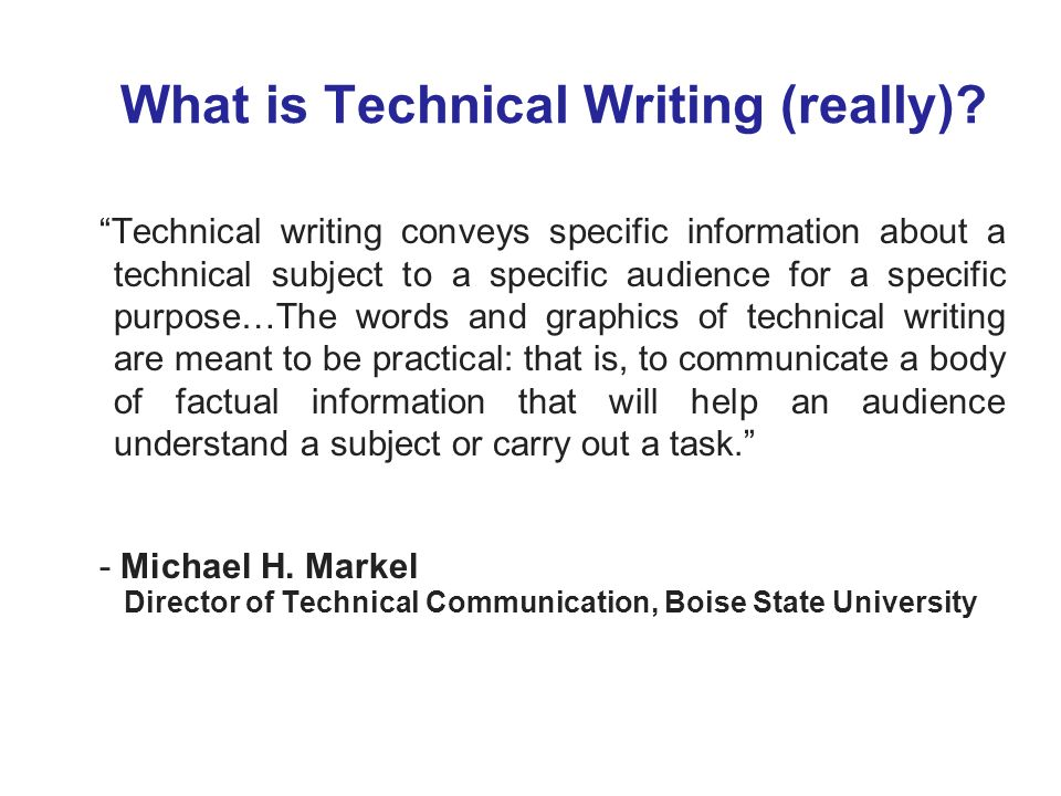 What is Technical Writing (really)