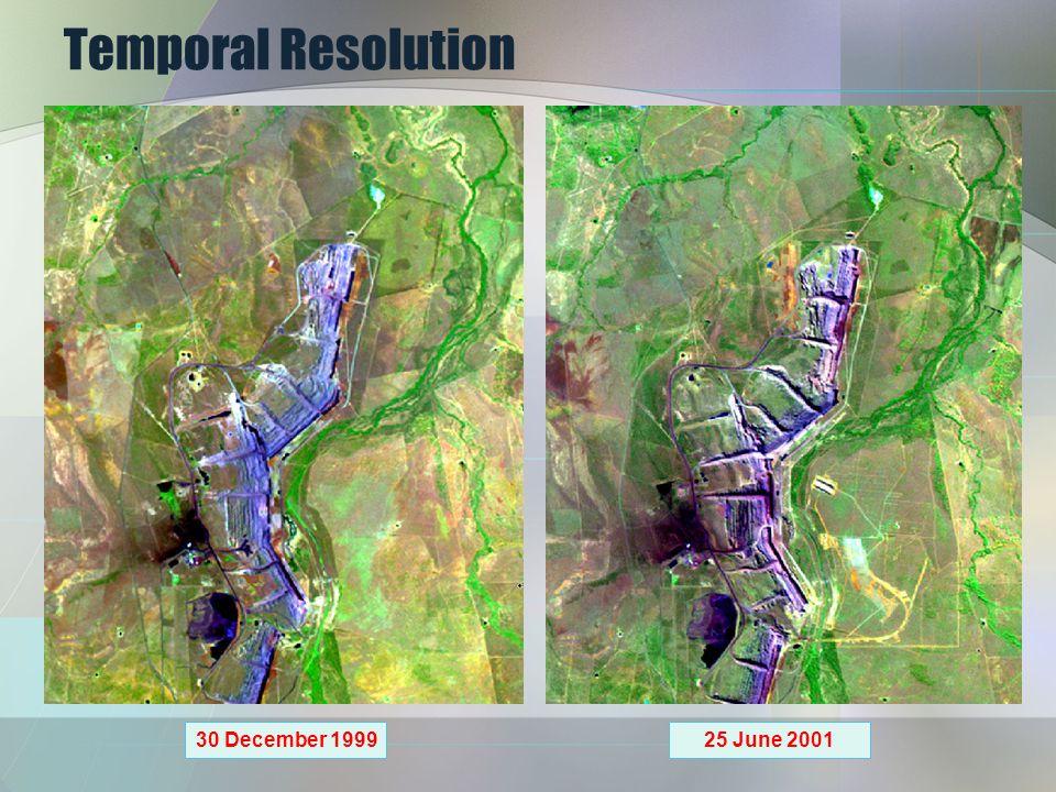 Temporal Resolution 30 December 1999 25 June 2001