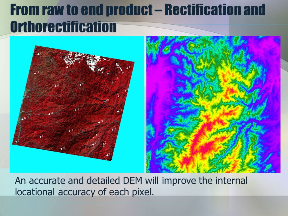 From raw to end product – Rectification and Orthorectification