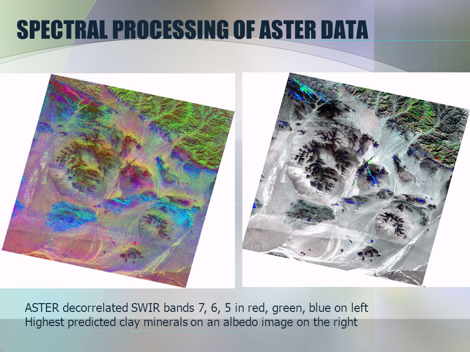 SPECTRAL PROCESSING OF ASTER DATA