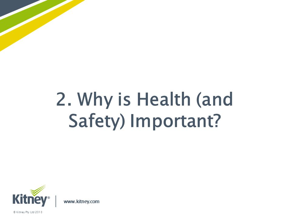 2. Why is Health (and Safety) Important