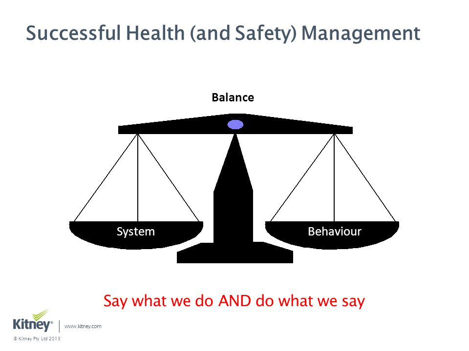Successful Health (and Safety) Management