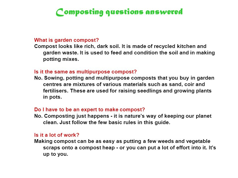 Composting questions answered