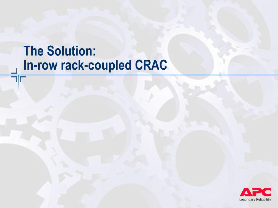 The Solution: In-row rack-coupled CRAC