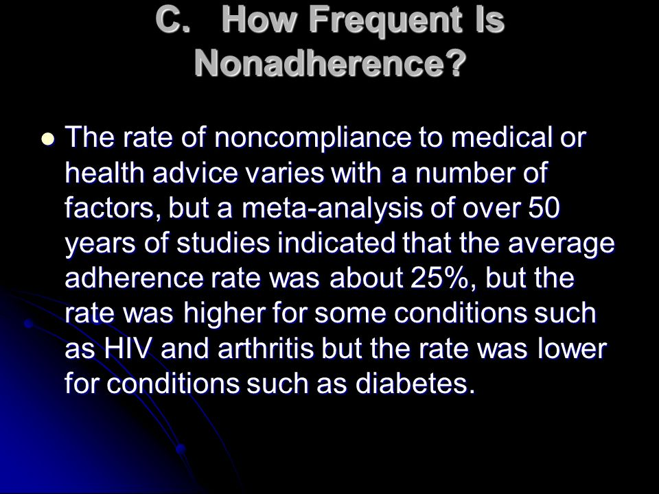 C. How Frequent Is Nonadherence