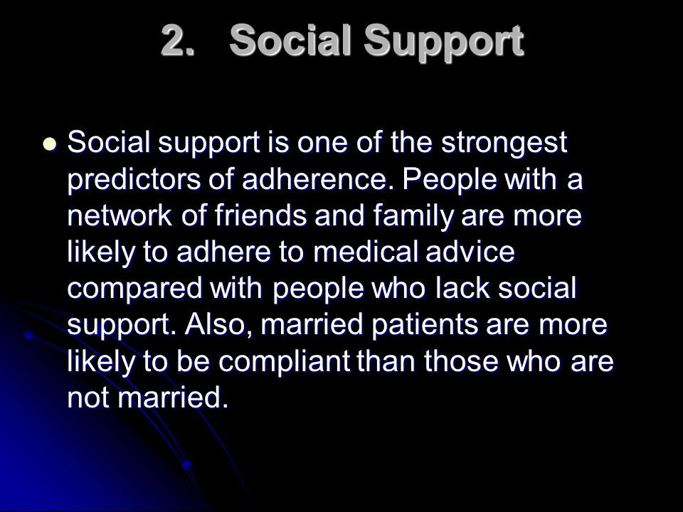 2. Social Support