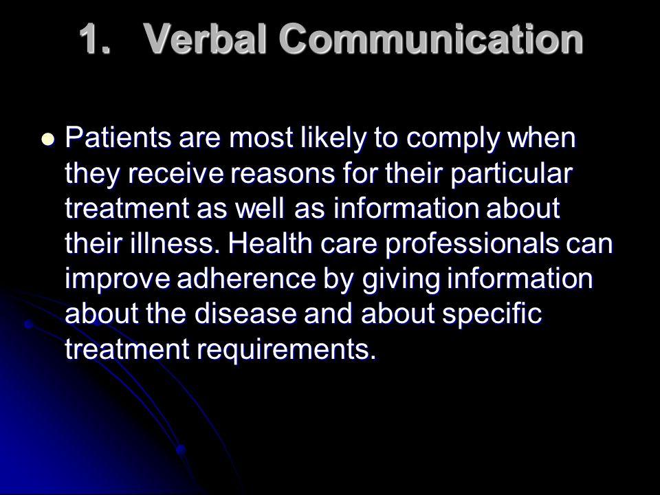 1. Verbal Communication
