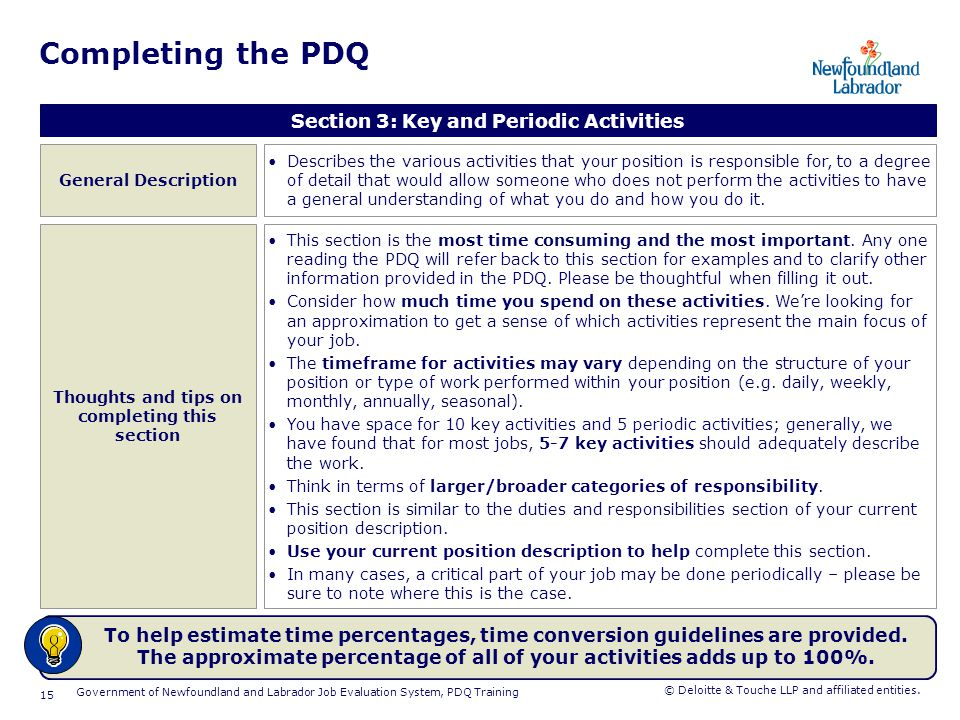 Completing the PDQ Section 4: Factor 1, Knowledge