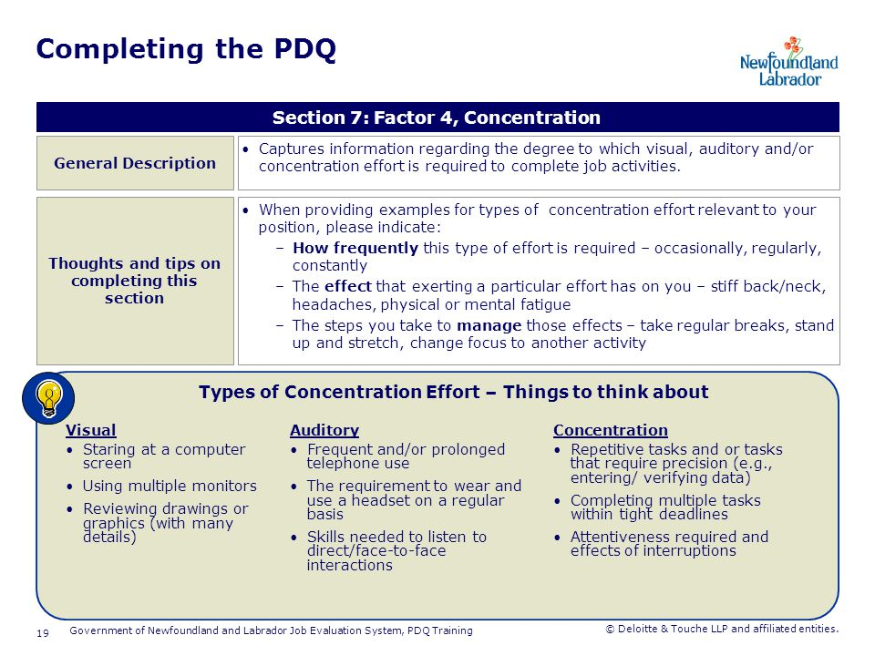Completing the PDQ Section 8: Factor 5, Complexity