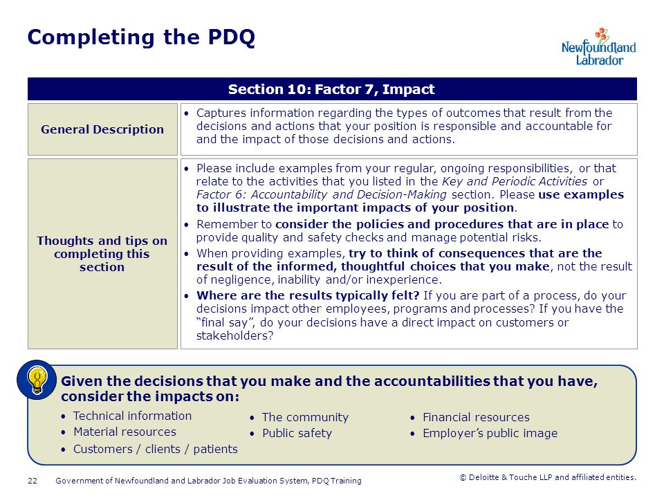 Completing the PDQ Section 11: Factor 8, Development & Leadership of Others. General Description.