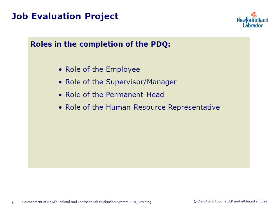 Introduction to Job Evaluation