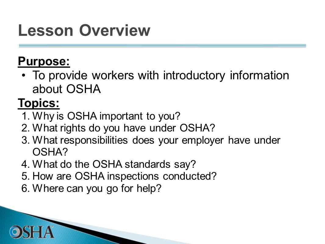 Lesson Overview Purpose: