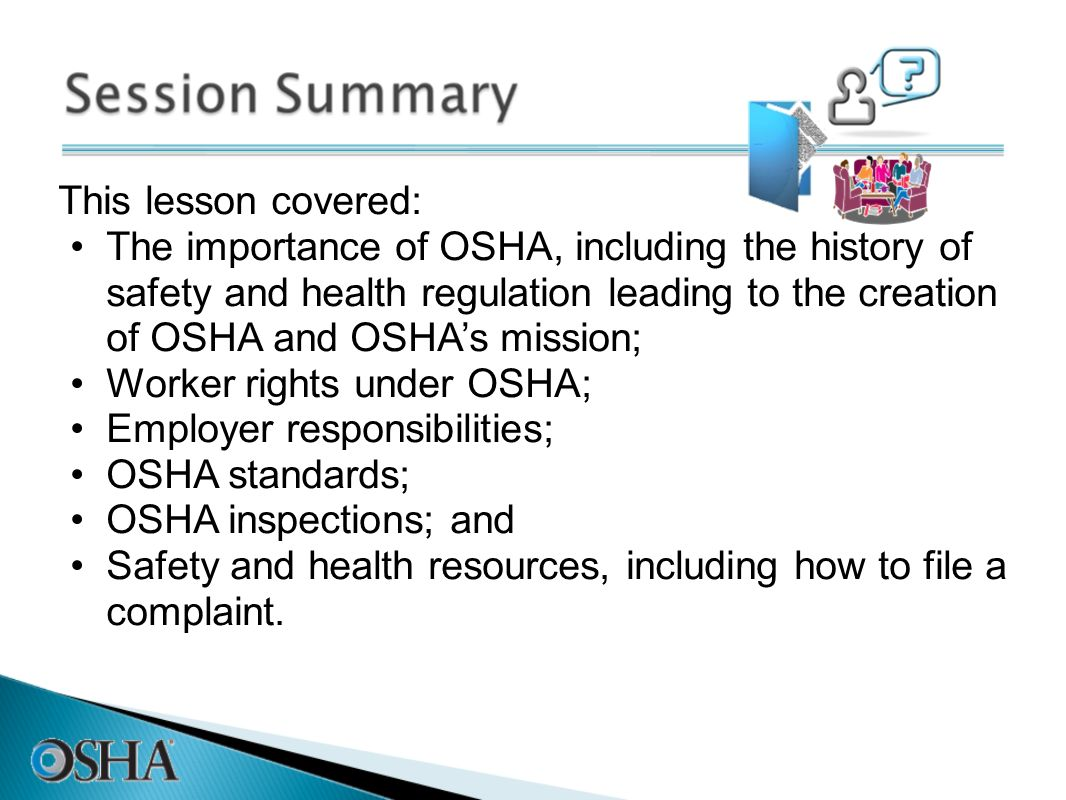 history of osha History of the ergonomics issue wednesday, august 4, 2010 - 8:00pm not long after the decision, a group of senators, led by sen john breaux (d-la), introduced new legislation calling for the occupational safety and health administration (osha) to complete an ergonomics standard within two years.
