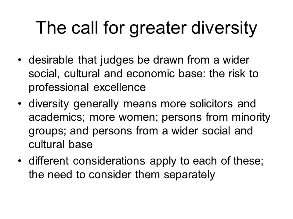 The call for greater diversity