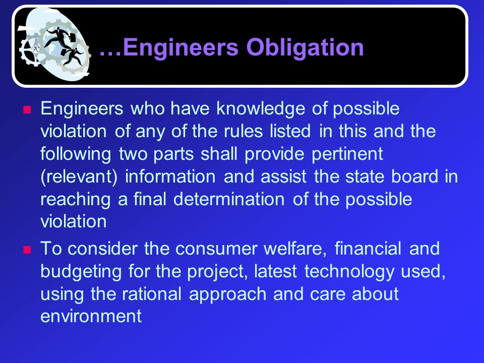 …Engineers Obligation