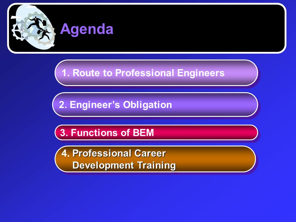 Agenda Route to Professional Engineers 2. Engineer's Obligation
